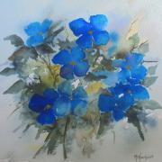 Clématites bleues