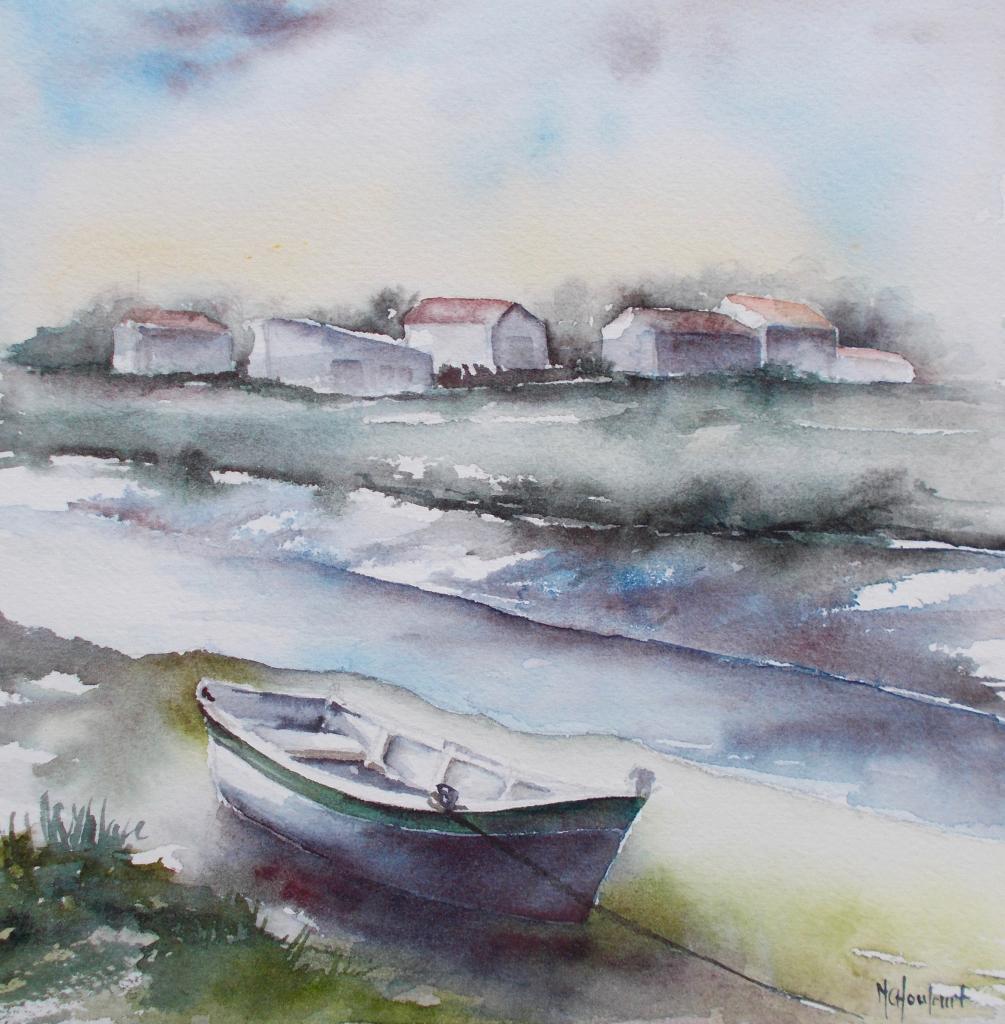 Barque à marée basse