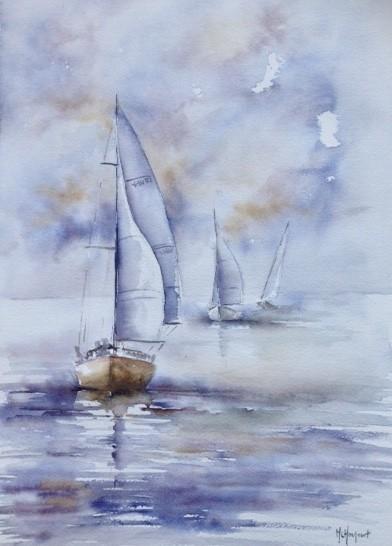 Trois voiliers
