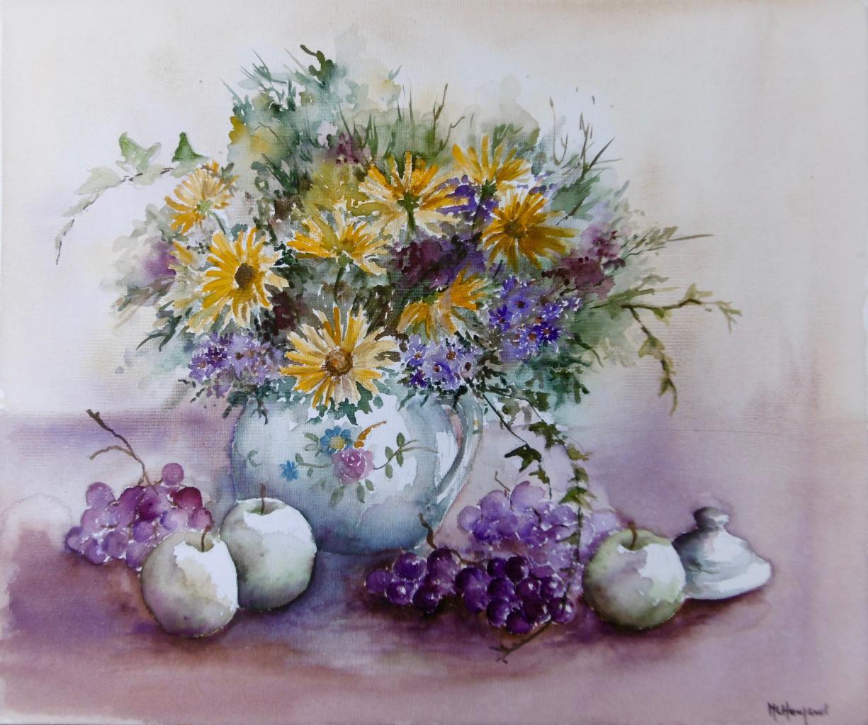 Bouquet et fruits d'automne